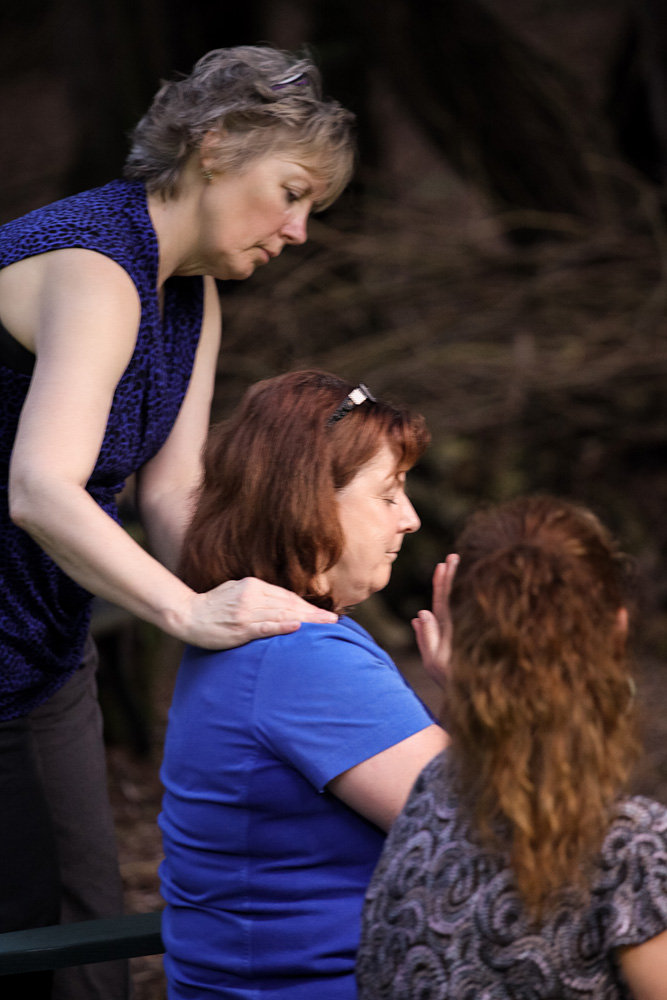 Decima receiving her Second Degree Reiki Attunements at Cedar Cove Wellness