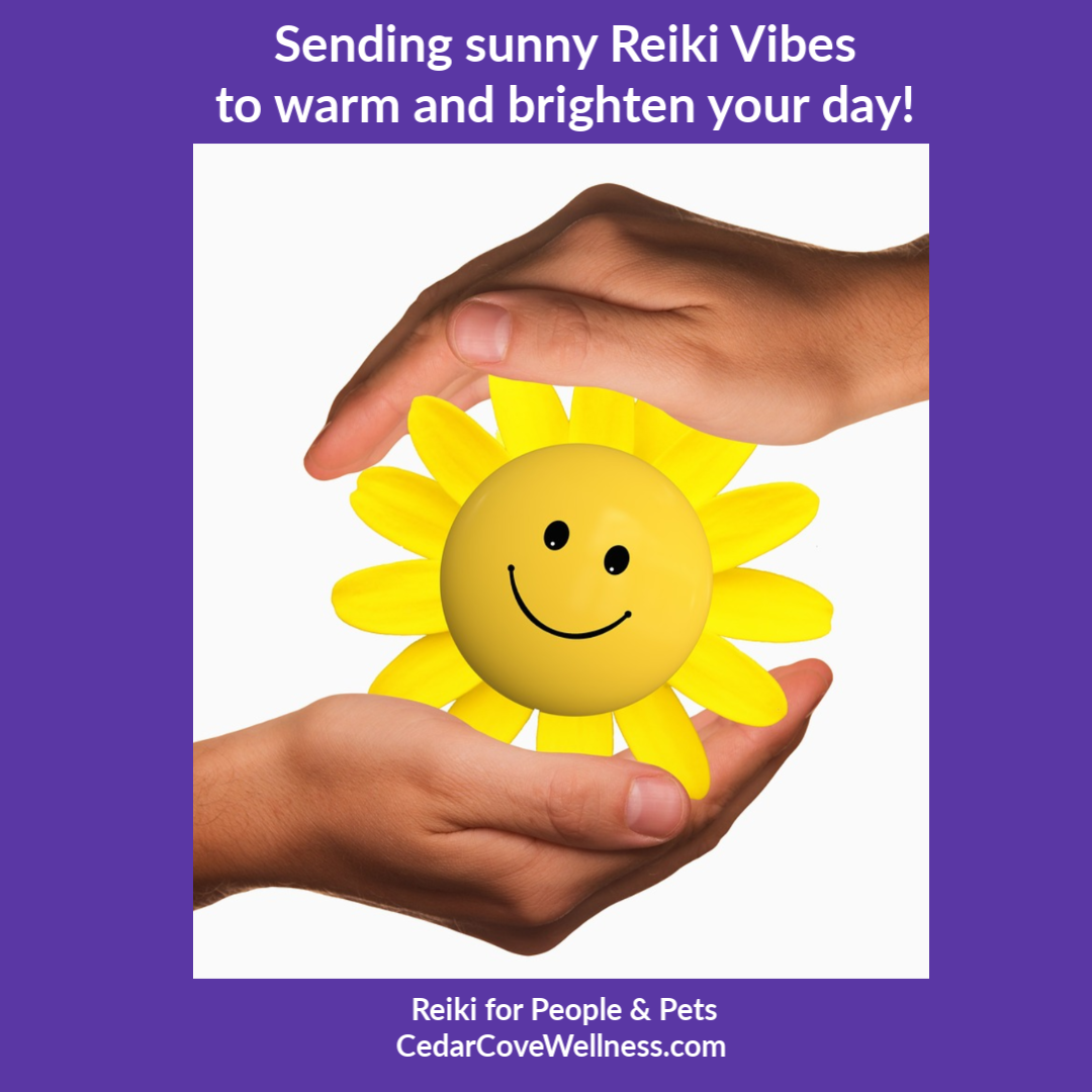 Sending sunny Reiki Vibes to warm and brighten your day!